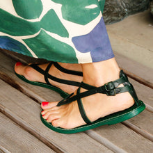 Load image into Gallery viewer, Green Leather Sandal