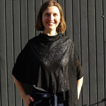 Load image into Gallery viewer, Black Linen Poncho