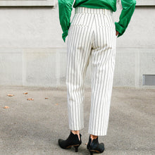 Load image into Gallery viewer, White Pinstripes Trousers