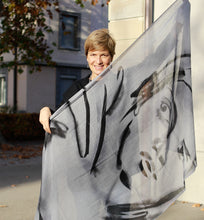 Load image into Gallery viewer, Large Soft Wool Scarf Face/Silk