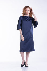 Cocoon Dress - Navy