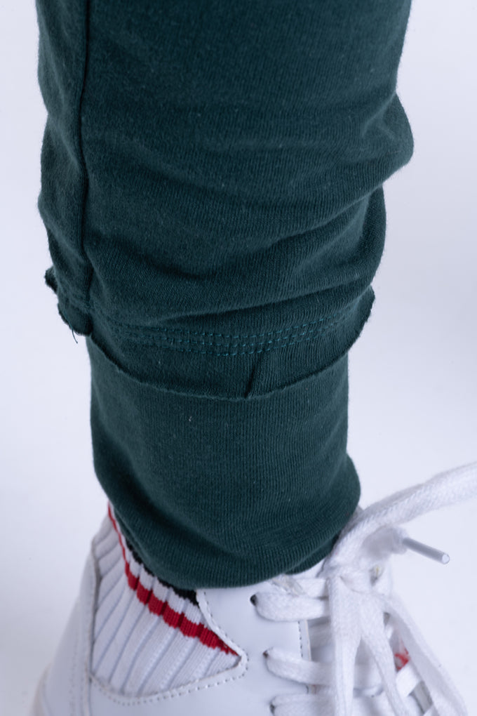 Dropped Crotch Sweats - Green
