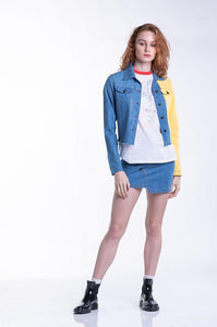 Gemini Denim Jacket - Yellow