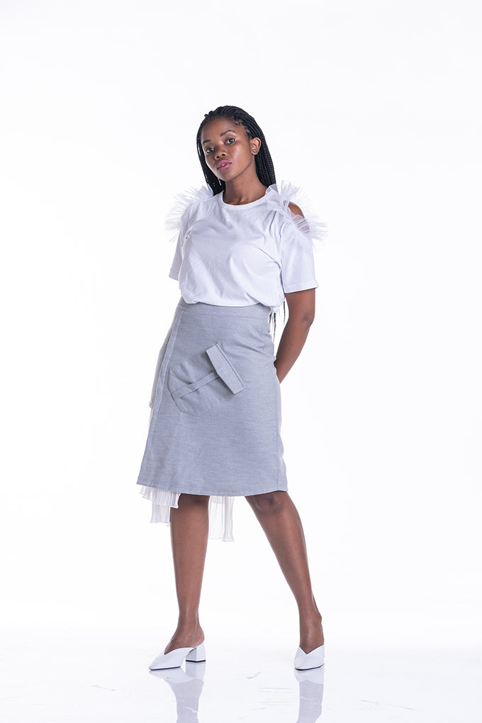 Pleat Excuse Me Skirt