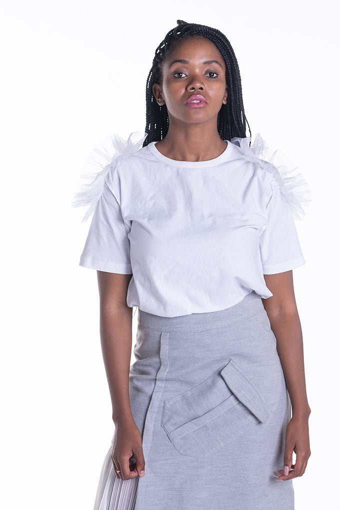 Don't Be A Tulle T-shirt - White