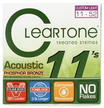 Load image into Gallery viewer, Cleartone Treated Acoustic Guitar Strings Set- 7411 Phosphor Bronze - Custom Light