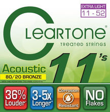 Load image into Gallery viewer, Cleartone Treated Acoustic Guitar Strings Set- 7611 80/20 Bronze - Custom Light