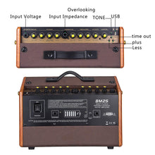 Load image into Gallery viewer, Veintica BM25 Rechargeable Acoustic Guitar Amplifier