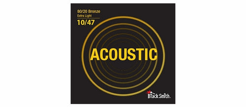 Black Smith BR1047 80/20 Bronze Acoustic Guitar Strings Set - Extra Light