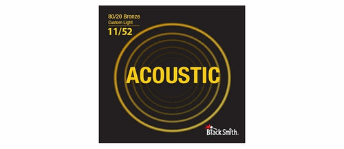 Black Smith BR1152 80/20 Bronze Acoustic Guitar Strings Set - Custom Light