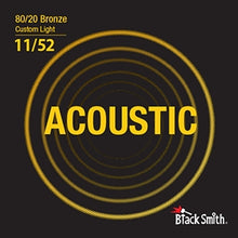 Load image into Gallery viewer, Black Smith BR1152 80/20 Bronze Acoustic Guitar Strings Set - Custom Light