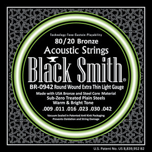 Black Smith BR0942 80/20 Bronze Acoustic Guitar Strings Set