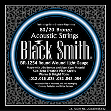 Load image into Gallery viewer, Black Smith BR1254 80/20 Bronze Acoustic Guitar Strings Set - Light
