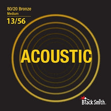 Load image into Gallery viewer, Black Smith BR1356 80/20 Bronze Acoustic Guitar Strings Set - Medium