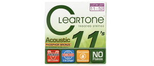 Cleartone Treated Acoustic Guitar Strings Set- 7411 Phosphor Bronze - Custom Light