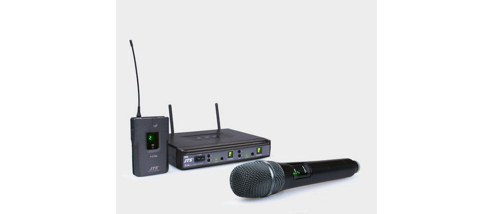 JTS E7Du Wireless System - Dual Microphone - 16 Channel