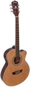 Washburn EAT12 Acoustic Electric Thinline Mini Jumbo Guitar + Free Bag