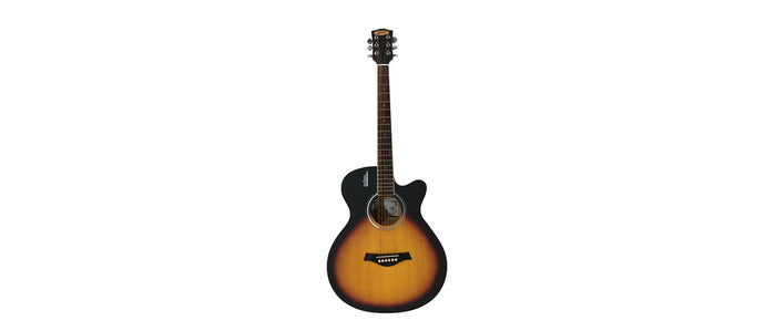 Giuliani GAG40SLEQ Acoustic Electric Guitar with bag