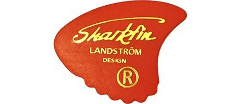 Sharkfin GP101 Thin Red Plectrum Pack of 10