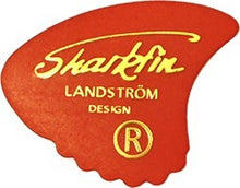 Load image into Gallery viewer, Sharkfin GP101 Thin Red Plectrum Pack of 10