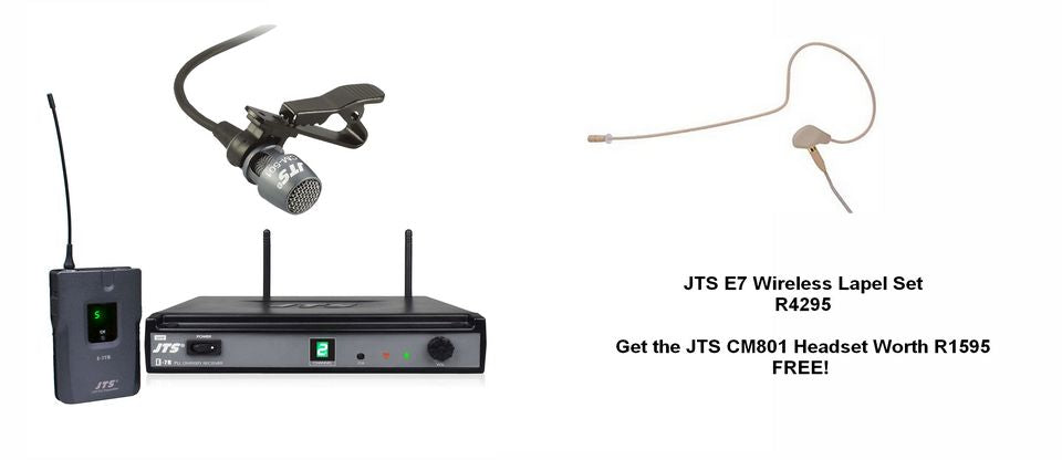 JTS E7 Wireless Lapel Set + Get a CM801 Headset FREE!