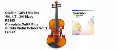 Giuliani SV1 Violin + Suzuki Violin School Volume 1 FREE
