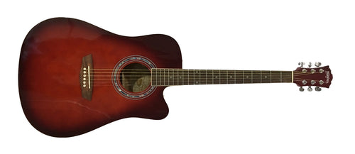 Washburn WA90CER Acoustic Electric Guitar - Red