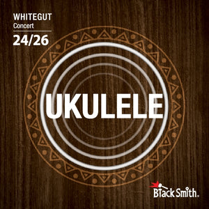 Black Smith Concert Ukulele Strings White Gut - WG-25C