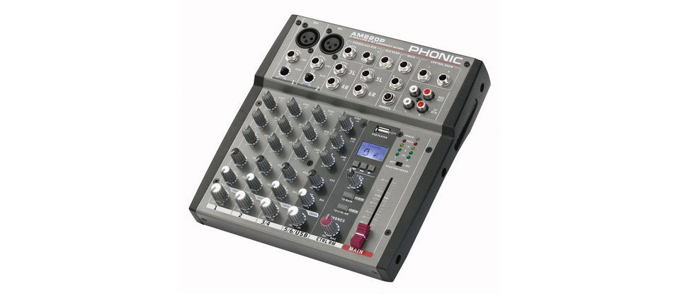Phonic AM220P 6 Channel Mixer with USB Player