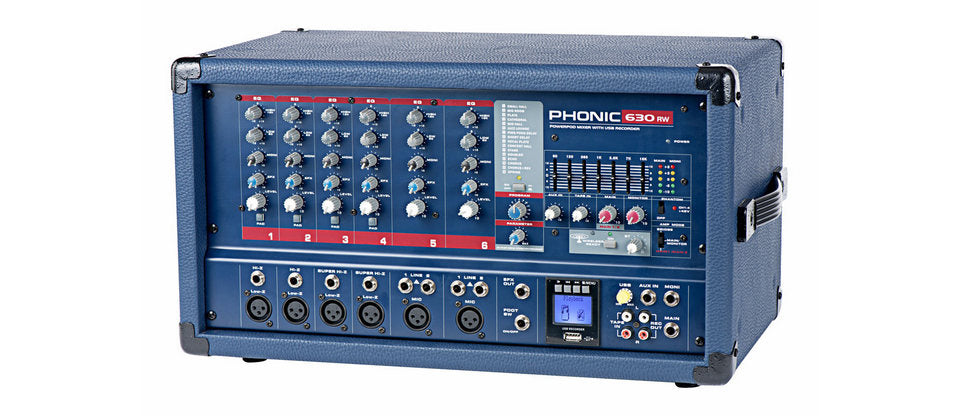 Phonic Powerpod 630RW Powered Mixer w/USB Rec