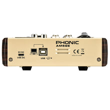Load image into Gallery viewer, Phonic AM5GE 5 Channel Mixer with BT, TF Recording, USB Interface