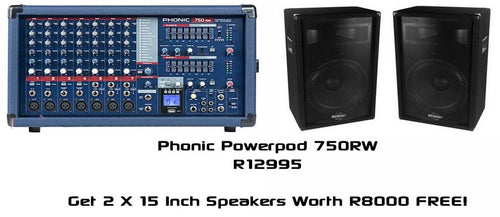 Powerpod 750RW + Free SEM715 Speakers