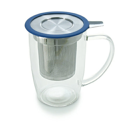 Brew-in Glass Mug with Infuser and Lid