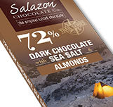 72% Organic Dark Chocolate with Sea Salt and Almonds
