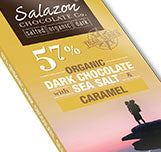 Organic Dark Chocolate with Sea Salt and a touch of Organic Caramel