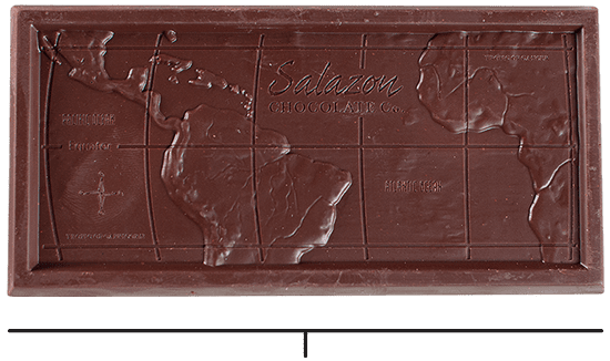 Chocolate Bar cutout with captions