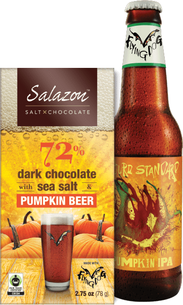 Pumpkin Chocolate with ale featured next to it