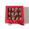 Pink Passion Chocolate Covered Strawberries | Valentines Day Gift - 12 Strawberries in a Box