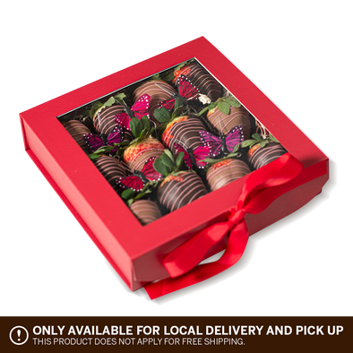 Pink Passion Chocolate Covered Strawberries | 12 Strawberries in a Box