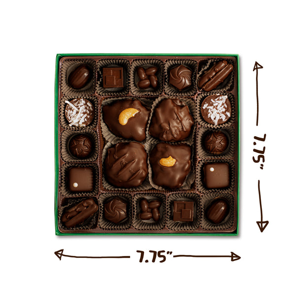 Dark Chocolate Nutty Collection Box | 20 Pieces
