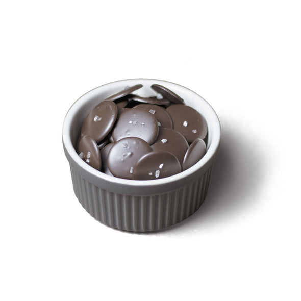 Dark Chocolate Salted Discs | 6 oz