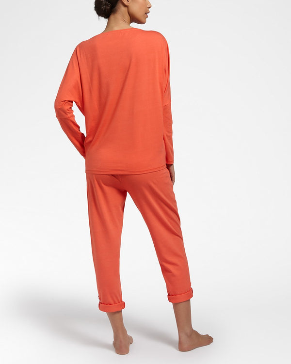 ALL DAY COMFORT Orange - Top mit langen Ärmeln