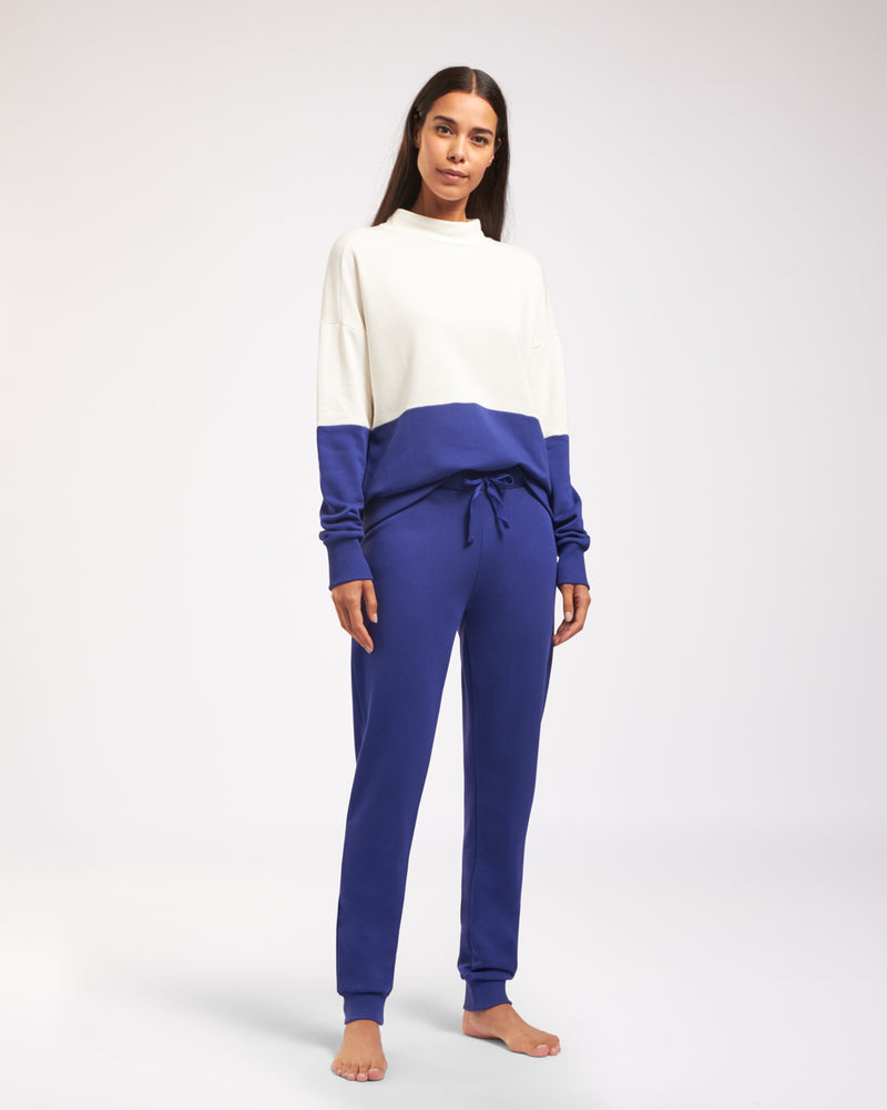 Cyell COLOR BLOCK BLUE Langarm Pullover