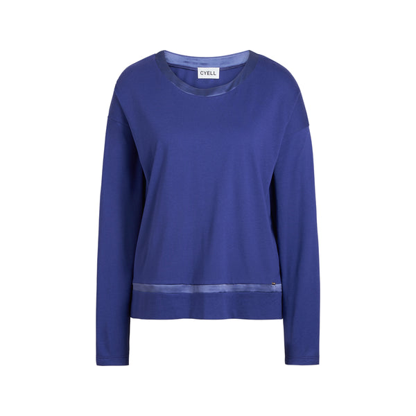 Cyell SOLID ELECTRIC BLUE Langarmshirt