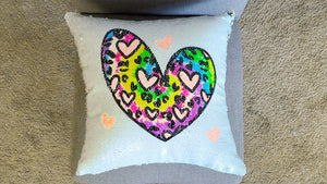 Create a magical reverse sequin pillow with a Sawgrass sublimation printer