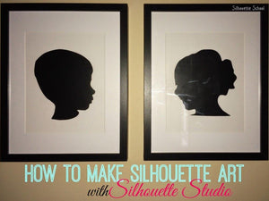 Creating a Silhouette with your Silhouette Cameo