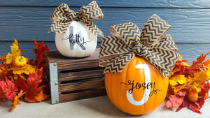 DIY Monogrammed Pumpkins with the Silhouette Cameo 4