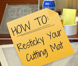 HOW TO CLEAN AND RESTICK A SILHOUETTE CUTTING MAT