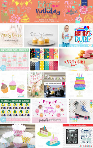 SO FONTSY'S BIG BIRTHDAY BUNDLE - LOADED WITH SVGS, 3D DESIGNS AND MORE! PLUS FREEBIES!
