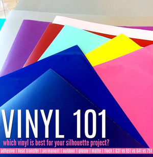 WHAT VINYL TO USE FOR SILHOUETTE CAMEO PROJECTS